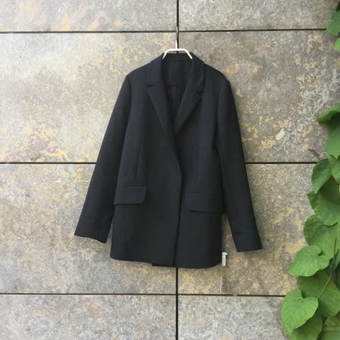 Black Wool / Polyester Mix COS Blazer-jacket Double Breasted Size S/M