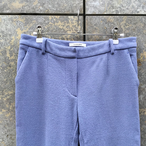 Purple Polyester Modern Carven Trousers Bell Bottom Size 30/31