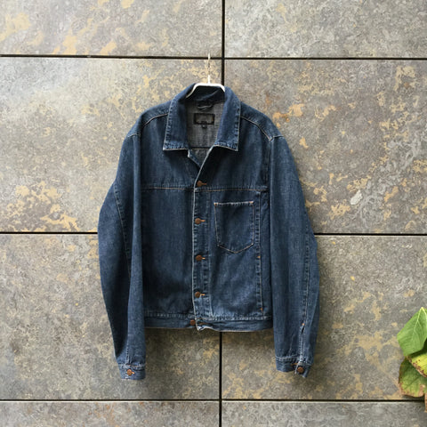 Denim Blue Denim Gant Jeans Jacket Oversized Pocket Size L