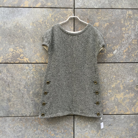 Heather Grey Wool Mix Marc by Marc Jacobs Dress Special Button Size S/M
