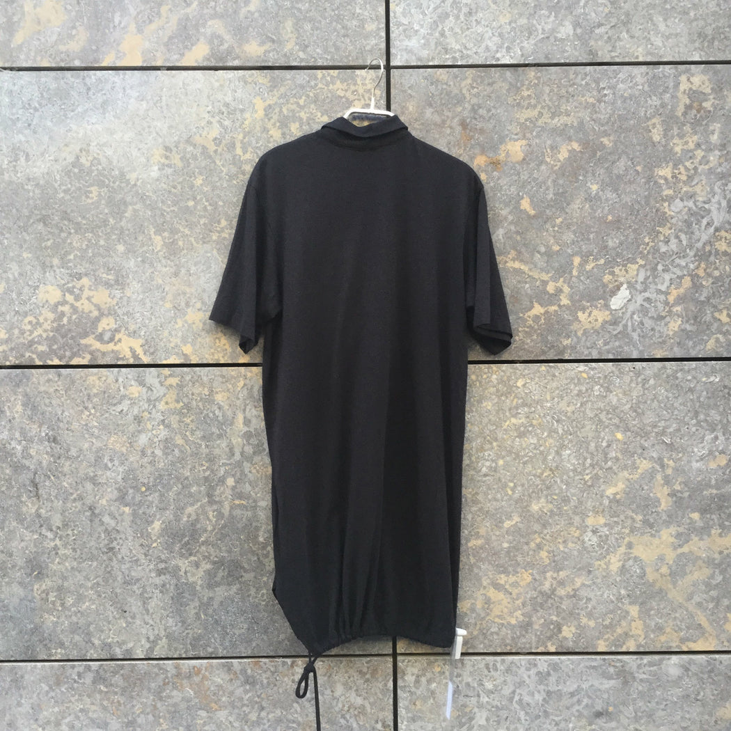 Faded Black Cotton / Rayon Mix Ann Demeulemeester Polo Shirt  Size Xs