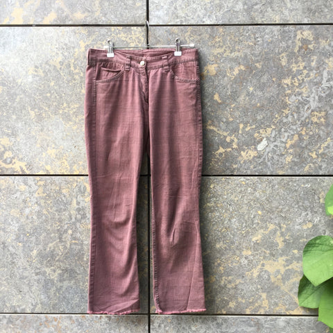 Red-Black Cotton Isabel Marant Trousers Cut-Off Size 30/31