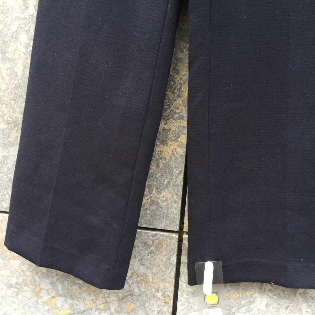 Midnight Blue Cotton / Poly Mix Vintage High Waist Pants Straight Leg Size 29/30