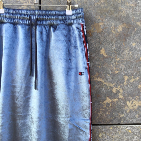 Heather Blue Velour Champion Midi Skirt Stretch Waist Size 28/29