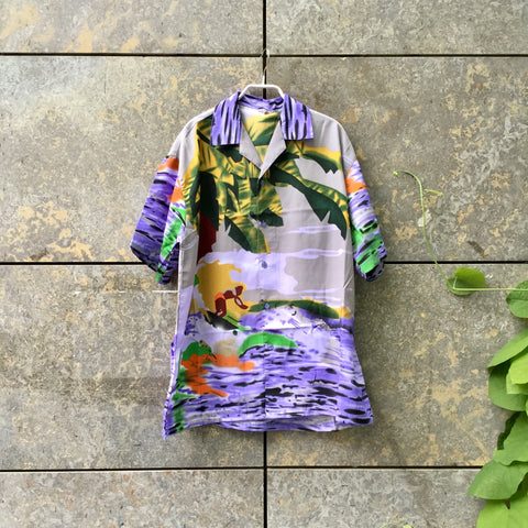 Colorful Rayon Mix Vintage Hawaii Shirt Oversized Size XL/XXL
