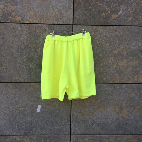 neon yellow Cotton Études Jogging Shorts  Size 30