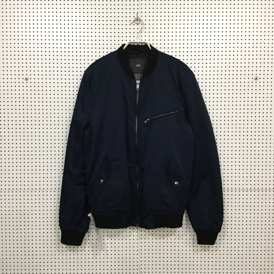 Navy Polyester Modern Contemporary Main Heavy Bomber Multi Pocket Size S/M
