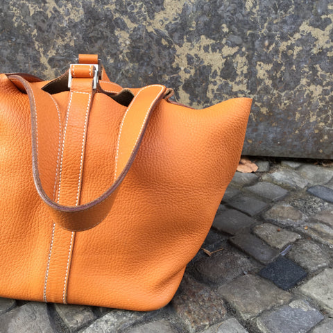 Caramel Leather Vintage Bucket Bag