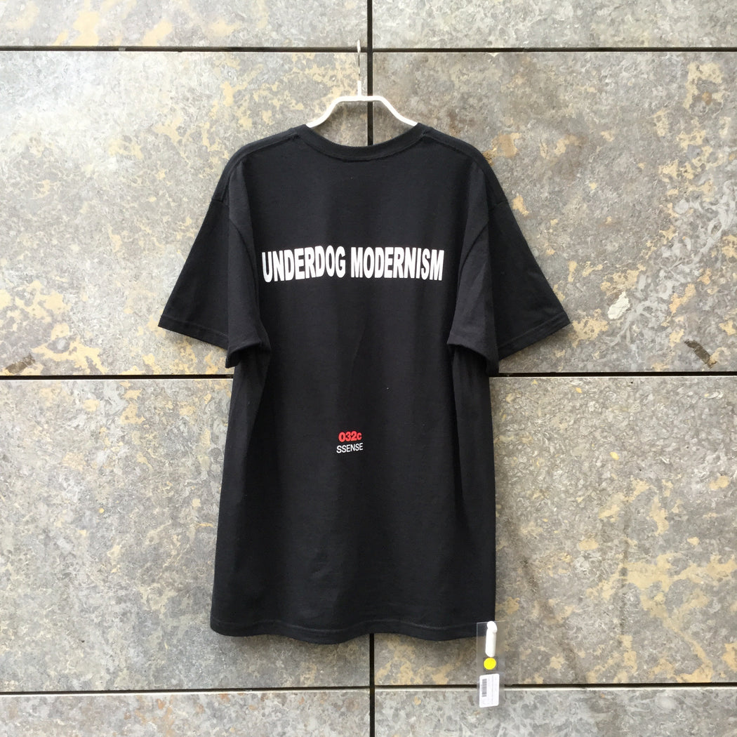 Black-Red Cotton Ssense T-shirt  Size L/XL