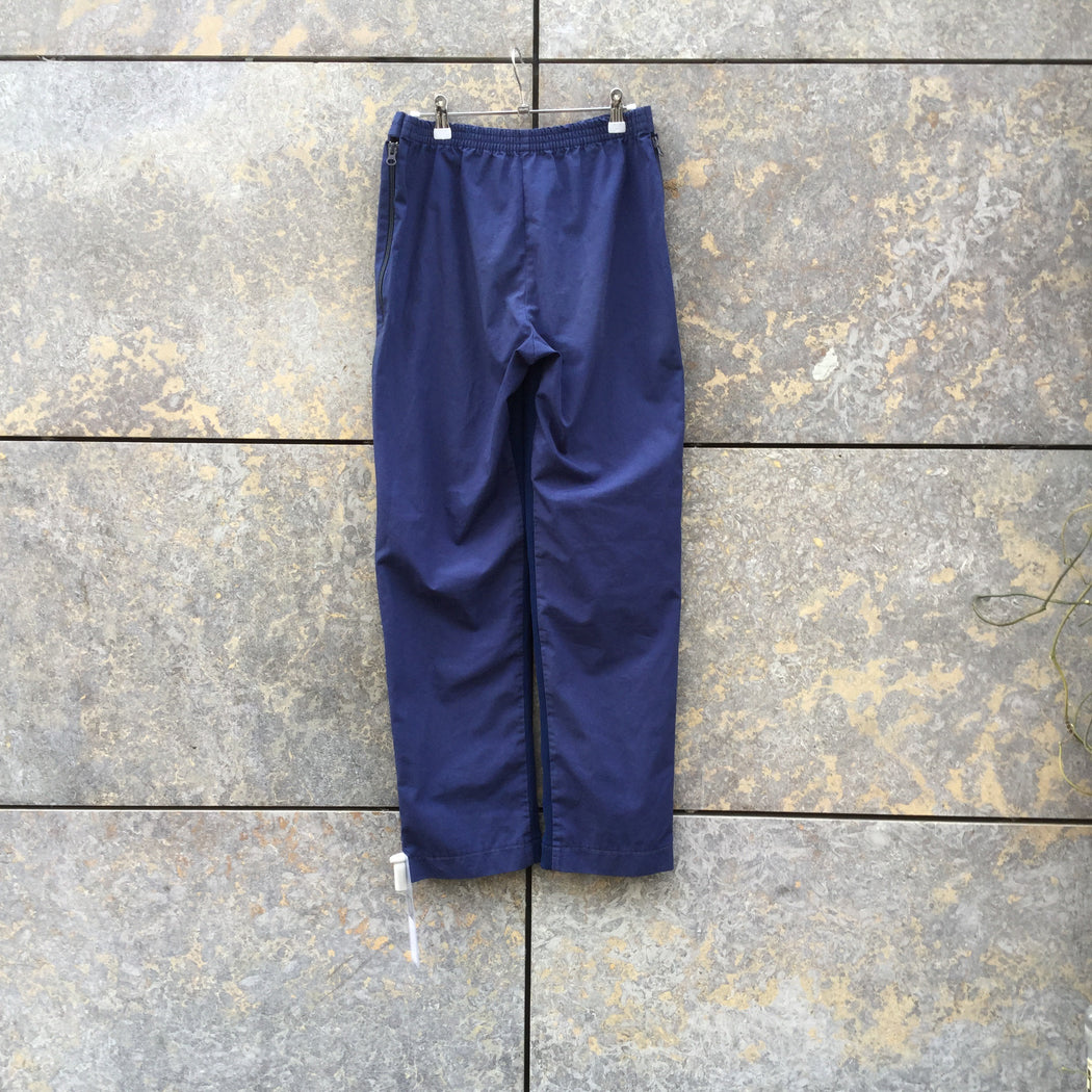 Indigo Cotton / Poly Mix Vintage Trousers Stretch Waist Size 30/31
