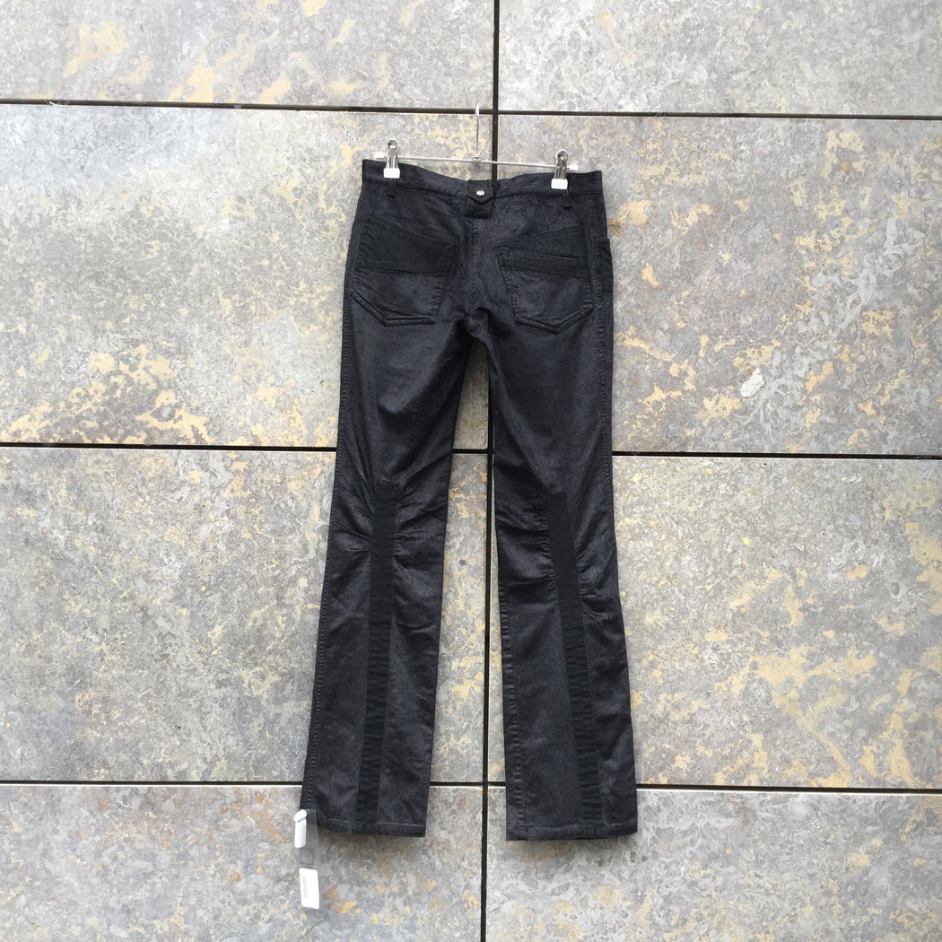 Black Corduroy Vintage Trousers Bell Bottom Size 28/29