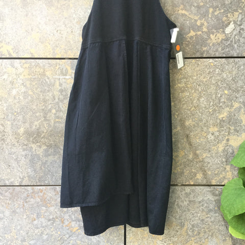 Black Poly / Denim Mix Acne Studio ( Jeans ) Tank Dress Pleated Size S/M