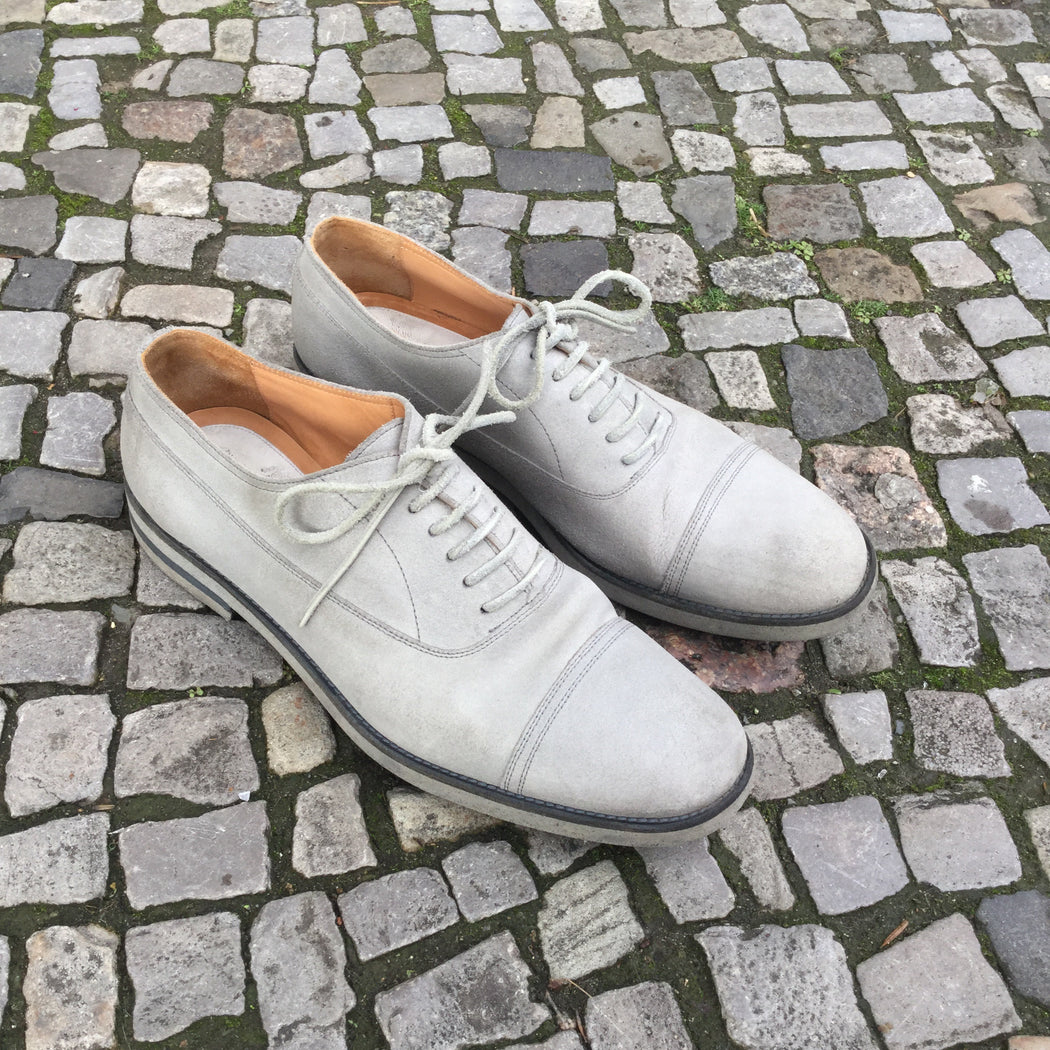Light Gray Leather Maison Martin Margiela Oxfords  Size 12