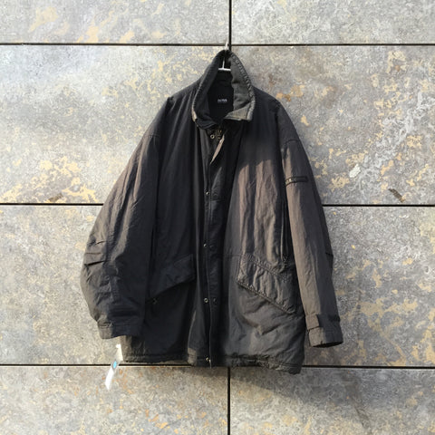 Black Cotton / Poly Mix Hugo Boss Jacket Multi Pocket Size XL/XXL