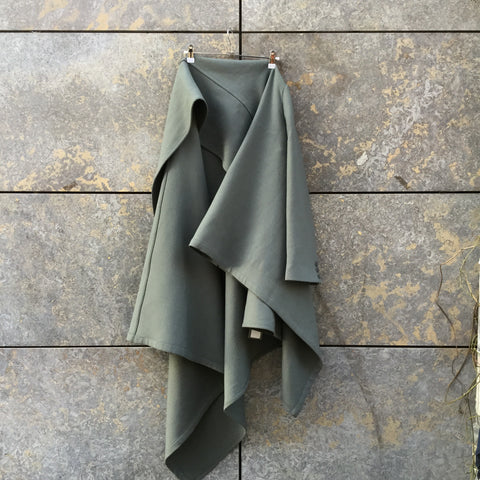Slate Cotton / Poly Mix Vintage Cape Conceptual Detail Asymetric Size Os