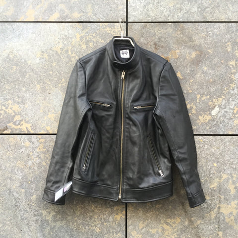 Black Leather Falcon Garments Leather Jacket  Size S/M