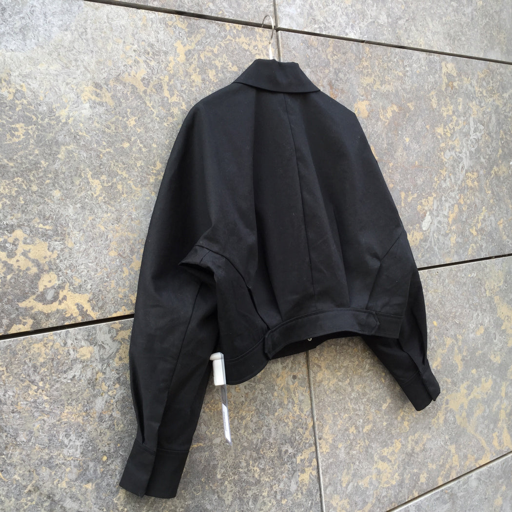 Black Cotton Other Stories Light Jacket Wide Leg Size M/L