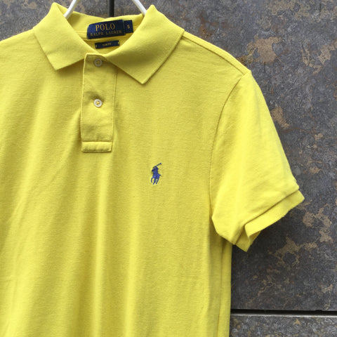 Blue-Yellow Cotton Polo Ralph Lauren Polo Shirt  Size S