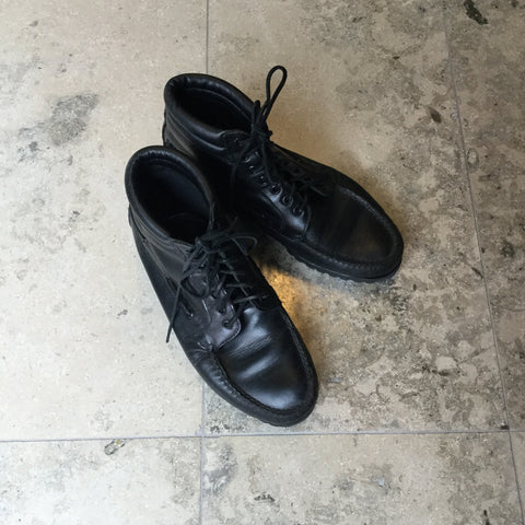 Black Leather Timberland Ankle Boots  Size 43