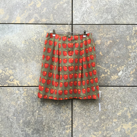 Colorful Felt Moschino Skirt Pleated Size 26/27
