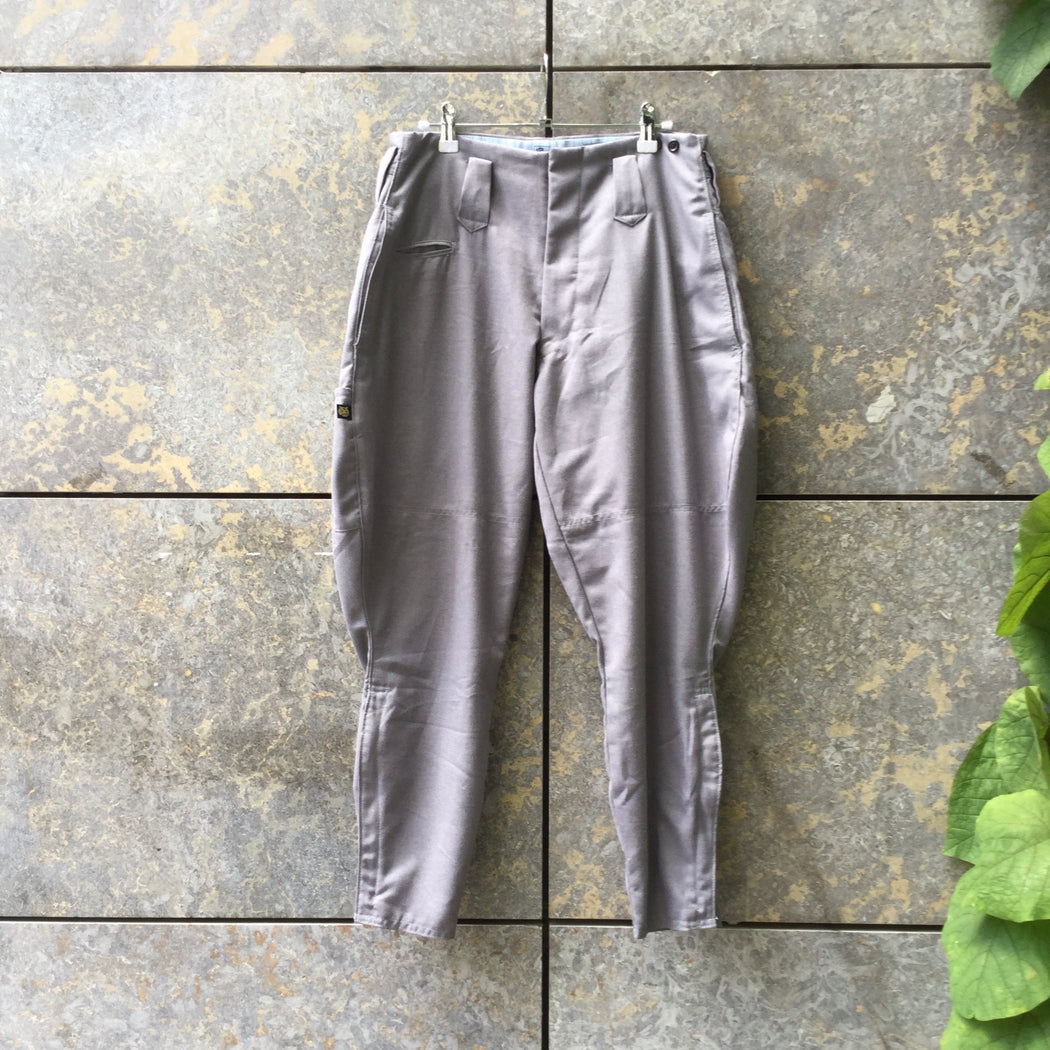 Grey Taupe Cotton / Poly Mix Vintage Trousers  Size 28/29
