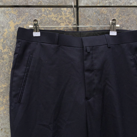 Navy Wool / Polyester Mix Agi & Sam Trousers  Size 34