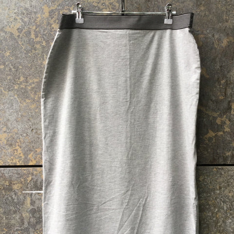 Morning Gray Cotton Mix Edc Maxi Skirt Slit Panel Size 30/31