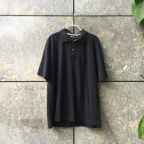 Black Cotton Acne Studios ( Mens ) Polo Shirt Ringer Collar