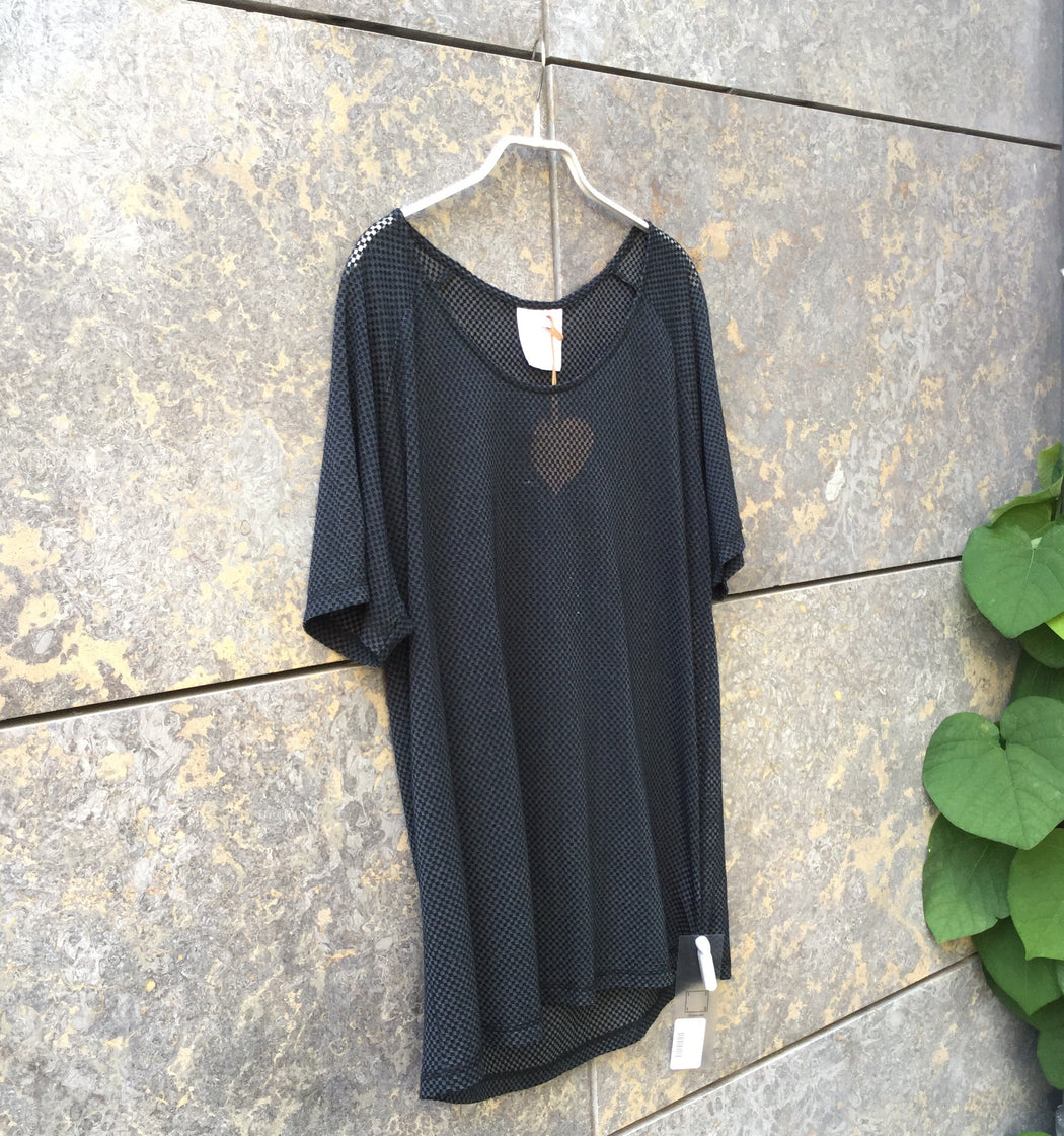Black Cotton / Poly Mix Julian Zigerli T-Shirt Mesh Size M