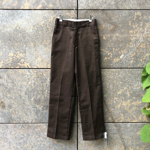 Brown Cotton / Poly Mix Dickies High Waist Pants  Size 30