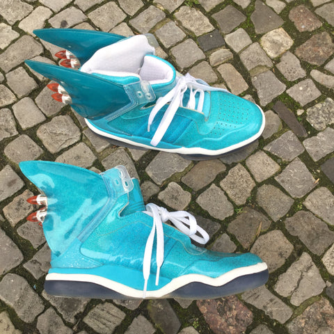 Turquoise Synthetic Jeremy Scott x adidas High-Tops Conceptual Detail Size 8