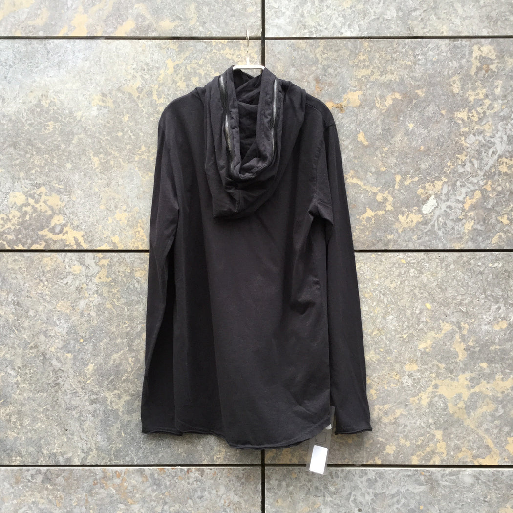 Black Cotton Mix Contemporary Hoodie  Conceptual Detail Size M