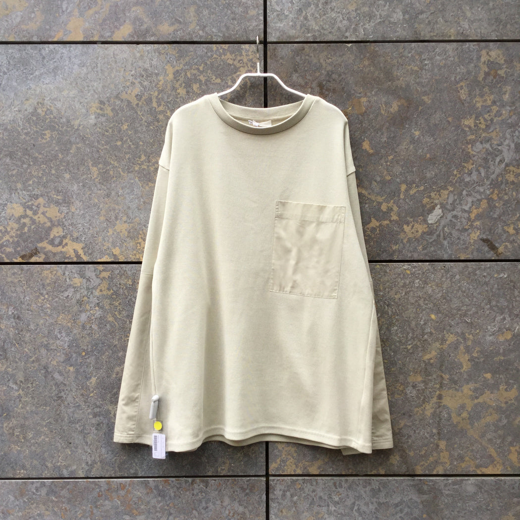 Straw Cotton COS Sweatshirt Boxy Oversized Pocket Size L/XL