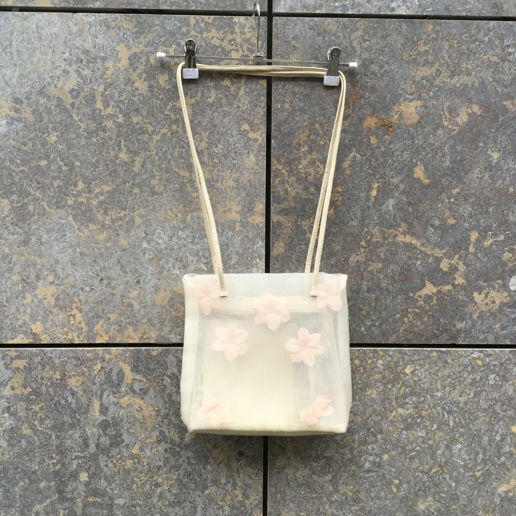 Beige Synthetic Contemporary Main Shoulder Purse Mesh Size Os