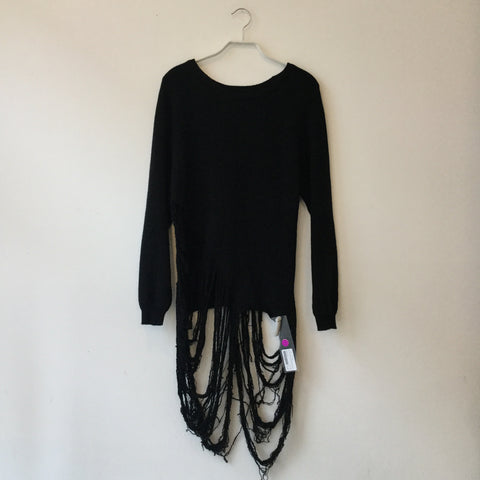 Black Acrylic Mix Stylenanda Light Sweater Asymetric Size M/L