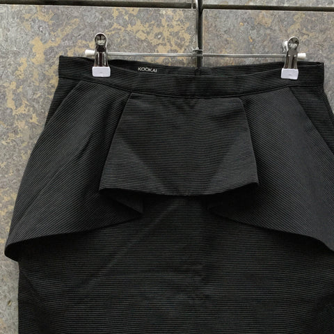 Black Rayon Mix Kookai Mini Skirt Layered Size 30/31