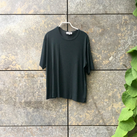 Dark Green Acrylic Mix Jil Sander T-shirt Oversized Size L/XL