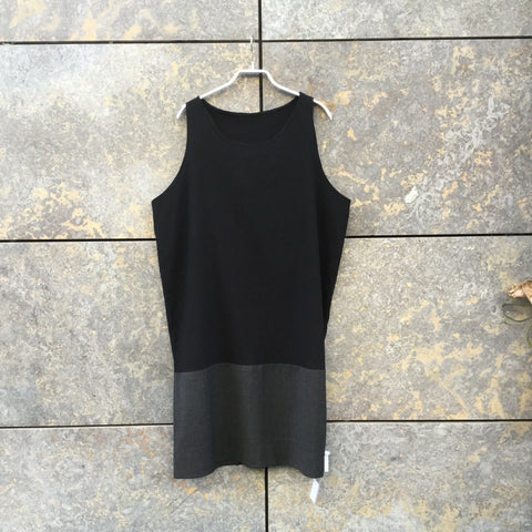 Black-Grey Rayon Mix Independent Dress Boxy Size M/L