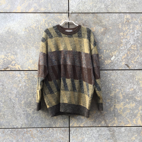 Dark Color Mix Wool Mix Issey Miyake Sweater  Size S/M