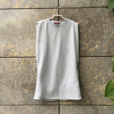 Morning Gray Polyester Mix Vintage Tank Dress  Size M/L