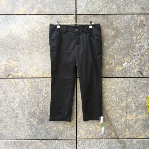 Black Cotton / Poly Mix Prada Trousers  Size 25/26