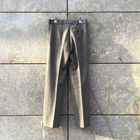 Dark Grey-White Wool Sport Max Straight Fit Pants Pleated Size 28/29