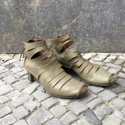 Olive Leather Trippen Wedge Heels  Size 10.5