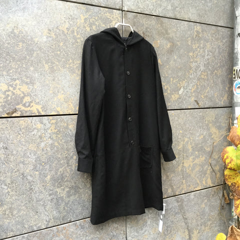 Black Wool Mix A.p.c. ( Womens ) Dress  Size M/L