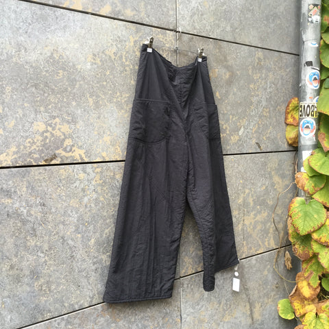 Black Nylon Independent Trousers Wide Leg Size 29/30