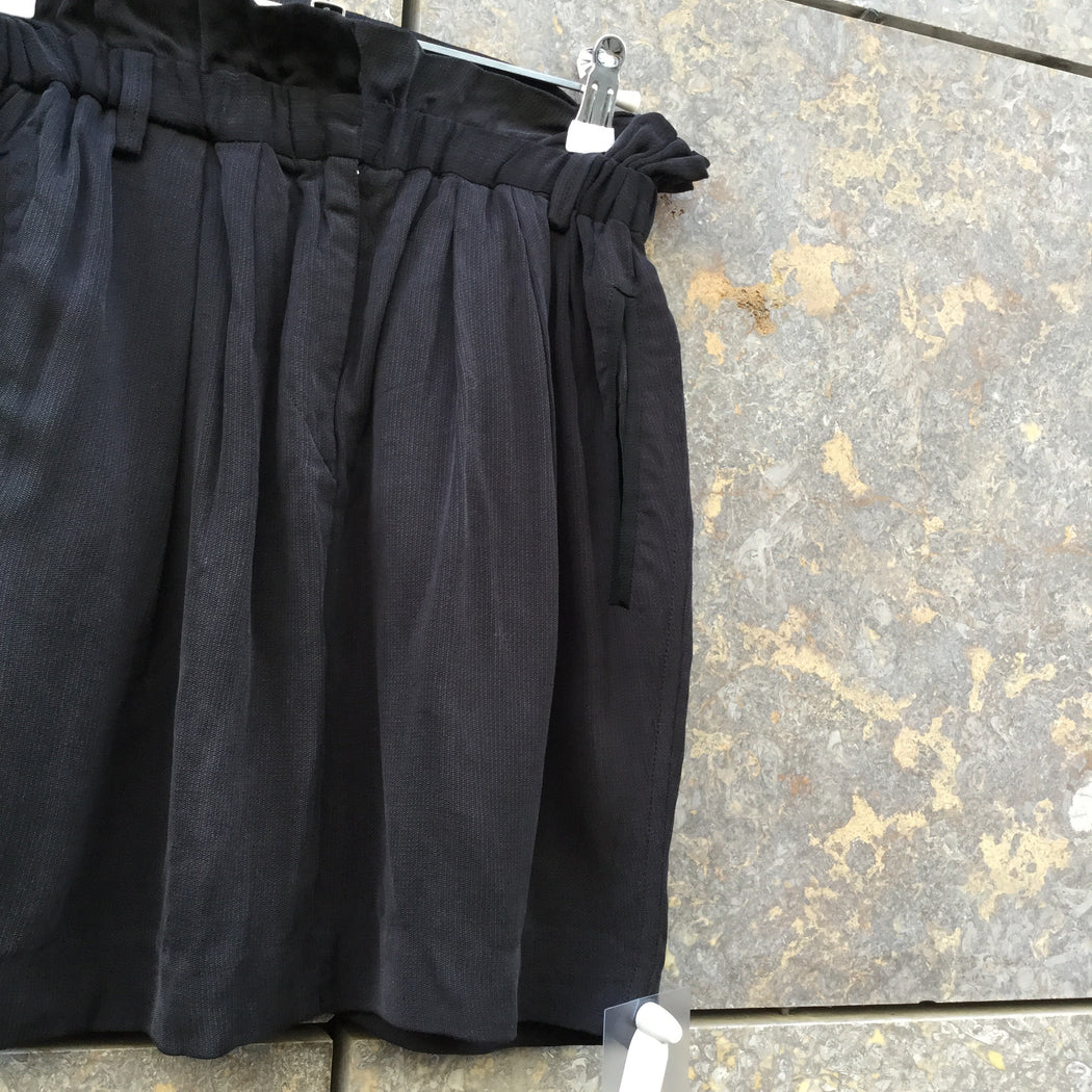 Black Cupro Isabel Marant Mini Skirt High Waist Size 26/27
