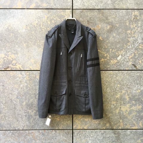 Slate-Black Wool Mix Marc By Marc Jacobs Jacket  Size S/M