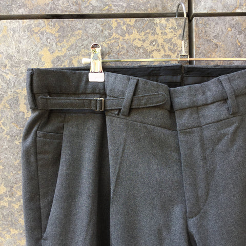 Charcoal Wool Mix Gazzarrini Trousers  Size 38