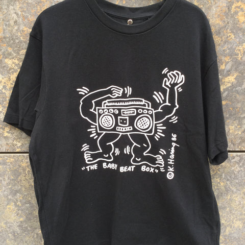 Black-White Cotton / Poly Mix Uniqlo Collaboration T-shirt  Size M/L