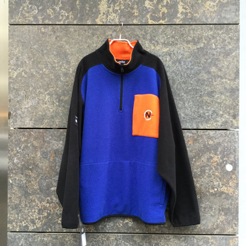 Black-Royal Blue Fleece Vintage Sweatshirt  Size L/XL